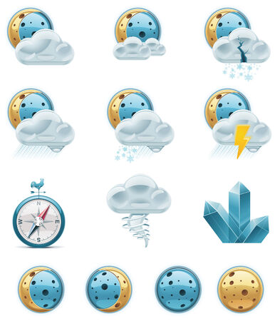 weather forecast icons.   Stock Vector - 8189338