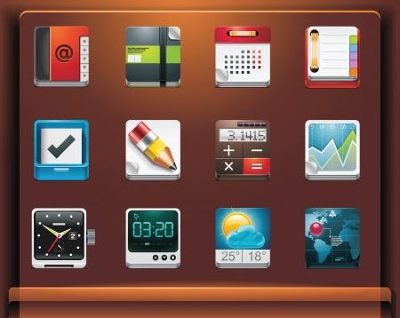 agenda electr�nica: Iconos de aplicacionesservicios de dispositivos m�viles. Parte 4 de 12