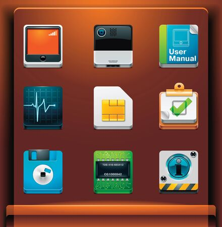 mobile devices: System tools. Mobile devices appsservices icons. Part 7 of 12