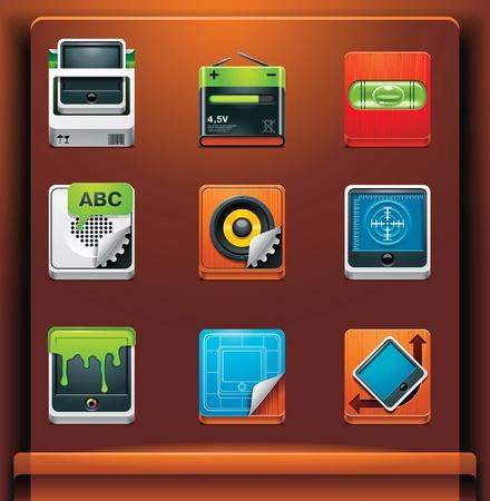 speaker box: Herramientas del sistema. Iconos de aplicacionesservicios de dispositivos m�viles. Parte 9 de 12 Vectores