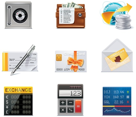 currency converter: Vector banking icons. Part 2 Illustration