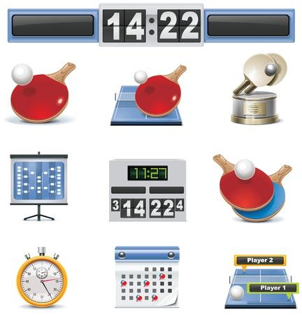 table tennis icon set Stock Vector - 8770482