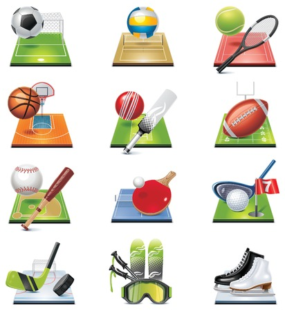 team sports: sport icon set