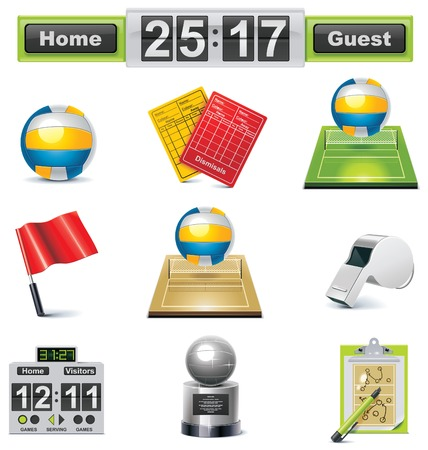 volleyball icon set Stock Vector - 8770487