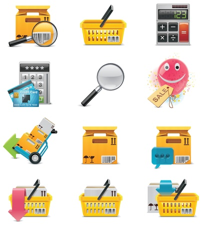 e-commerce icon set Stock Vector - 8887647