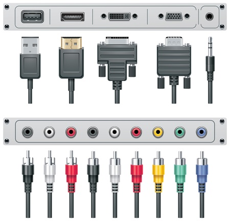 vga: Vector video and audio connectors