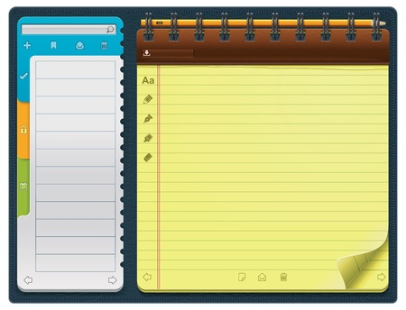 schedulers: notepad template (horizontal)