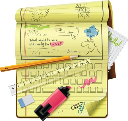 notepad XXL detailed icon Stock Vector - 9152265