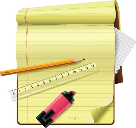 notepad XXL detailed icon Vector