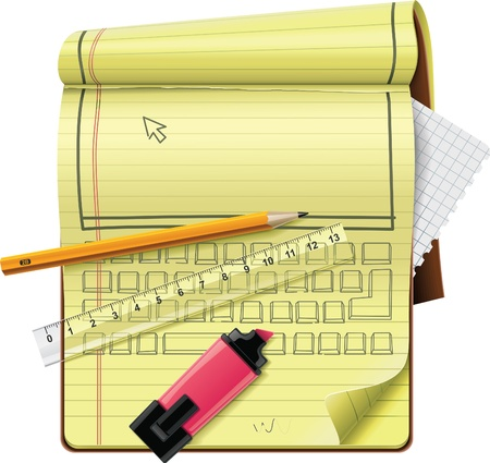 notepad XXL detailed icon Stock Vector - 9152264