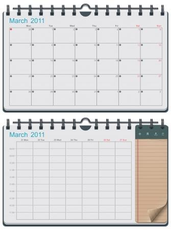 calendario: plantilla de calendario
