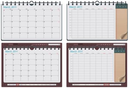 calendar template Stock Vector - 9152269