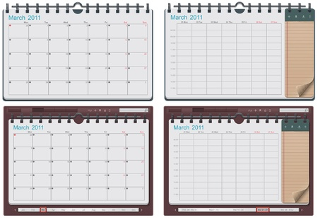 scheduler: calendar template