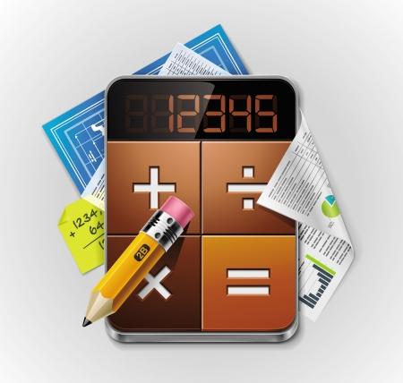 podatek: Kalkulator wektorowy XXL szczegółowe ikonę