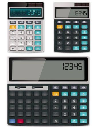 rekenmachine: Vector rekenmachines - eenvoudige en wetenschappelijke Stock Illustratie