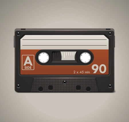 compact: Vector audio cassette tape XXL icon