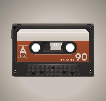 cassette tape: Vector audio cassette tape XXL icon