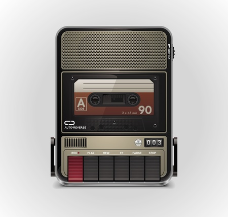 Vector cassette recorder XXL icon Stock Vector - 9387487