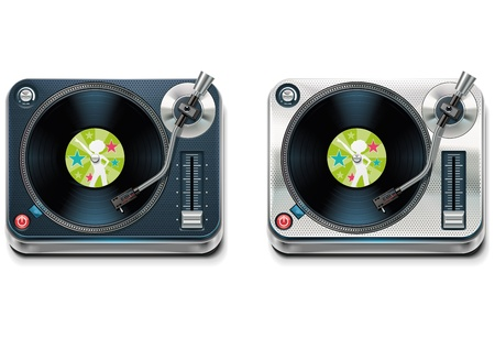 gramophone: Vector turntable XXL icon