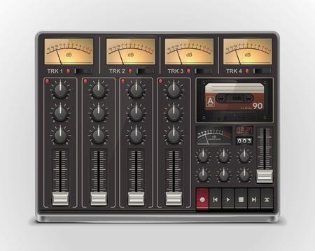 recording studio: pictogram van draagbare opname studio XXL