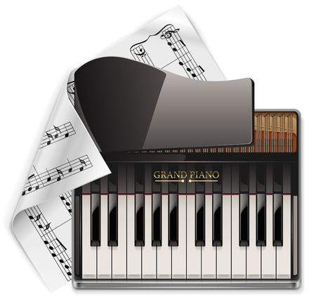 grand piano XXL icon Vector