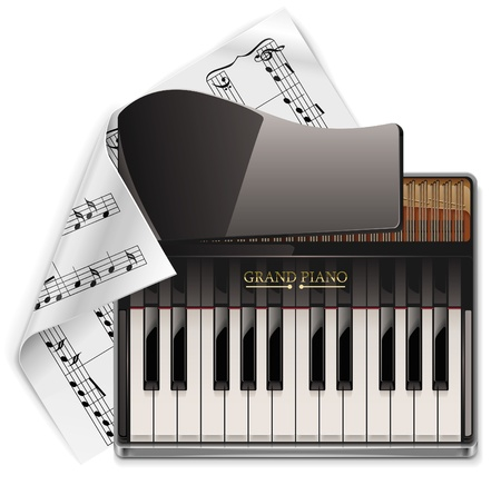 keyboard music: grand piano XXL icon