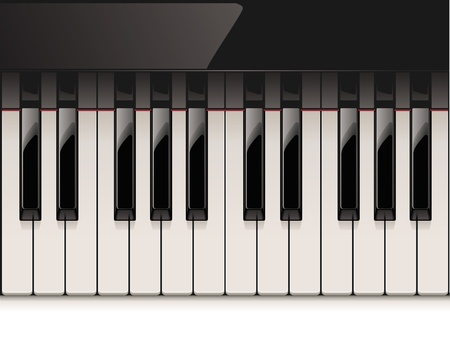 black piano: detailed piano keyboard Illustration