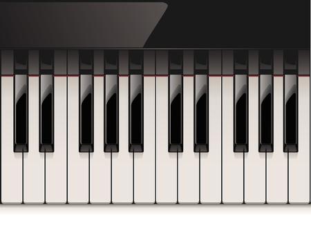 piano: teclado del piano detallada Vectores