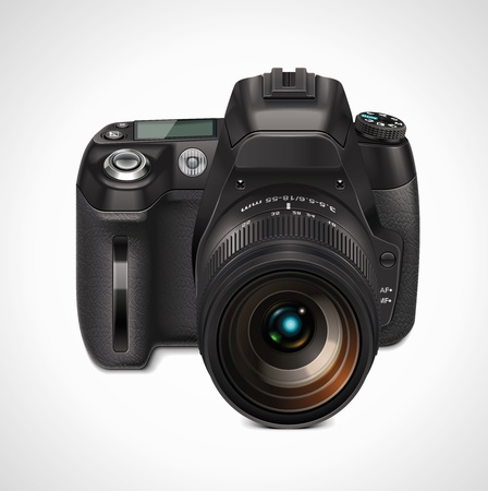 photography icons: vector slr camera xxl icon Illustration