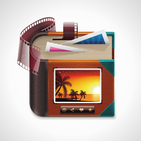 photo equipment: Vector photo album XXL icon