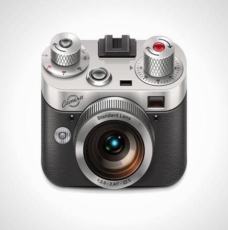 photo camera: Icona della Vector fotocamera retr� XXL  Vettoriali