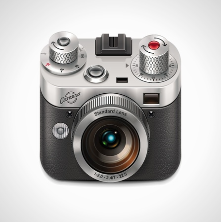 photography studio: Vector retro camera XXL icon
