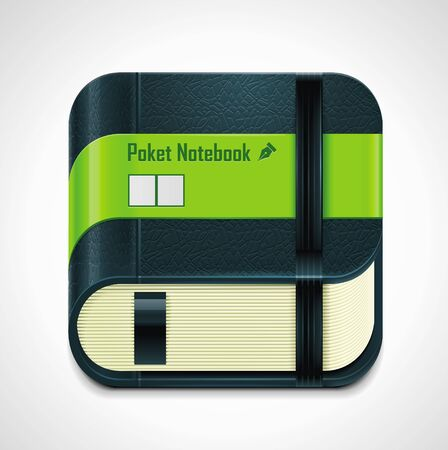pocket book: Vector notepad XXL icon  Illustration