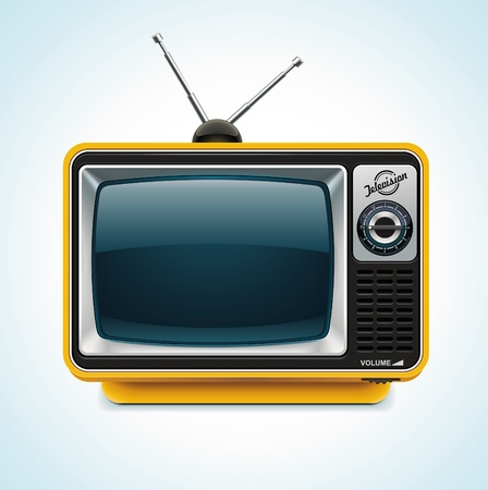 television antigua: Vector icono de TV XXL retro  Vectores