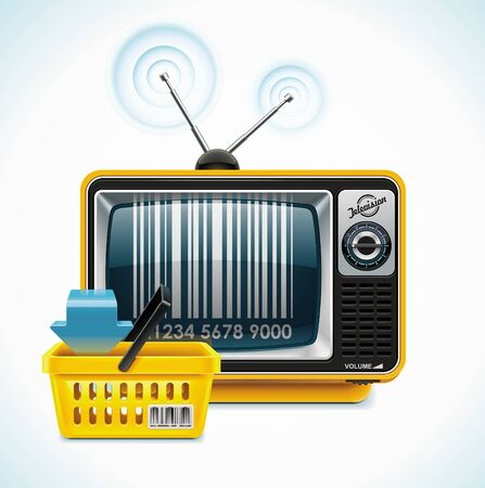 channels: Vector TV shop XXL icon  Illustration