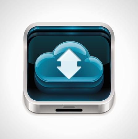 agenda electr�nica: Vector cloud computing XXL icono