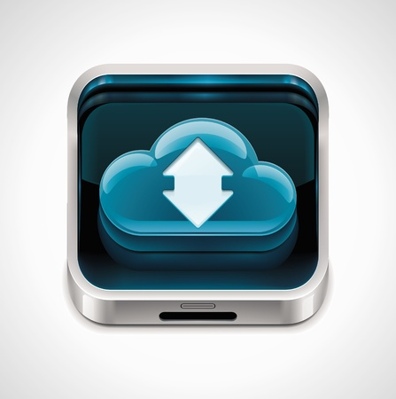 databank: Vector cloud computing XXL pictogram  Stock Illustratie