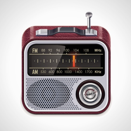 autoradio: Vector radio XXL icoon Stock Illustratie