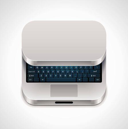 Vector square laptop icon Stock Vector - 9866936