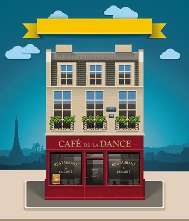 Europese cafe XXL icoon Vector Illustratie