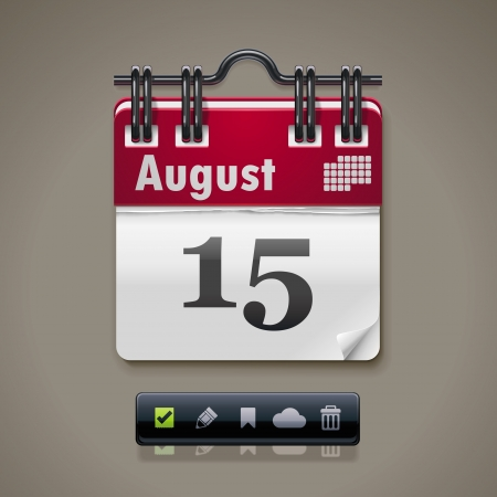 reminder icon: Vector calendar XXL icon Illustration