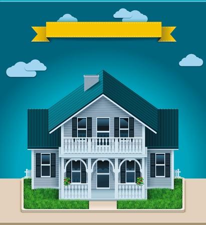 Vector cottage XXL icoon Vector Illustratie