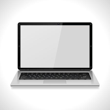icono computadora: Icono de vector port�til Vectores