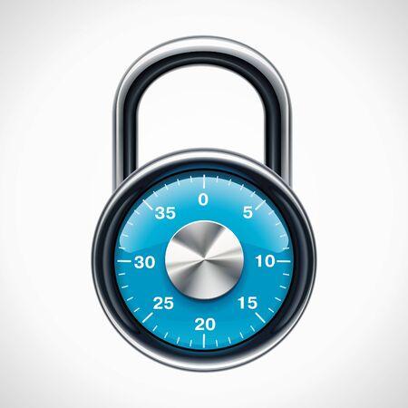 to lock: Lucchetto combinazione Vector