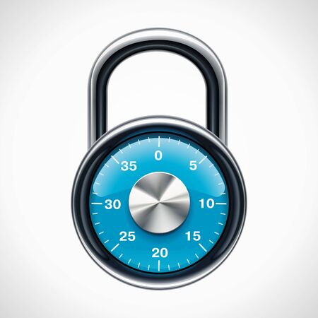 safe lock: Vector combination padlock Illustration