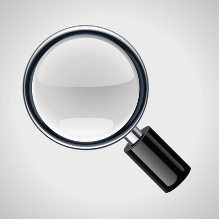 reading glass: Vector magnifying glass