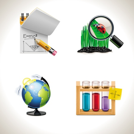 scientific research: Vector school. Part 3 Illustration