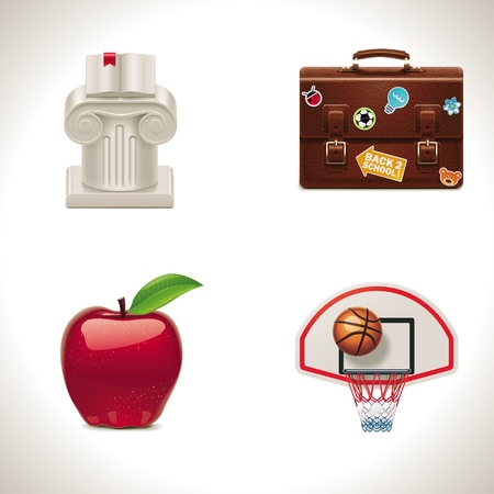 discipline: Vector school and education icons. Part 4 Illustration
