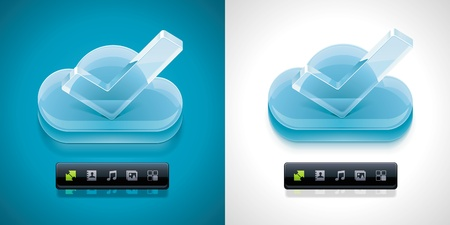 synchronization: Vector cloud computing XXL icon