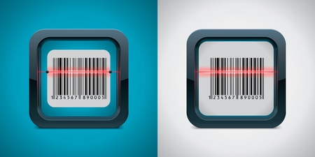 barcode scanner: Vector bar code scanner icon Illustration
